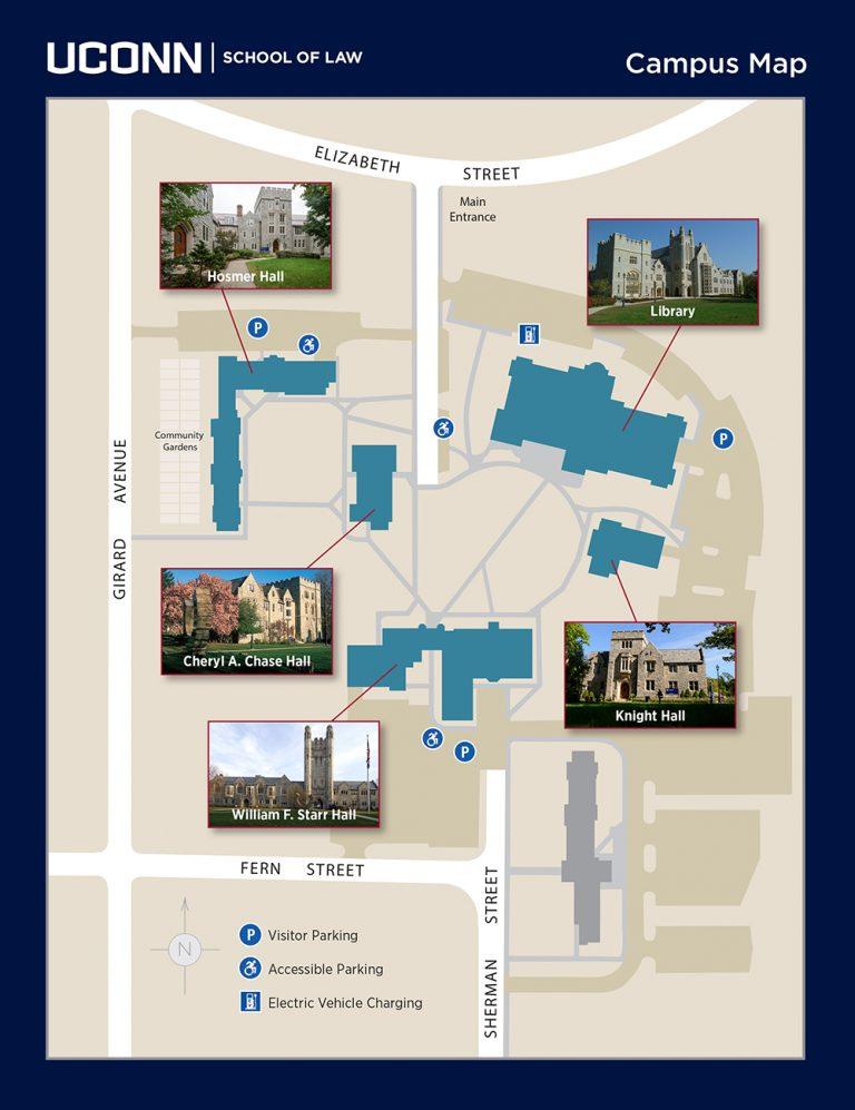 UConn Law campus map