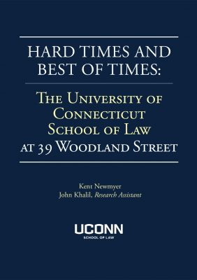"""Cover of """"Hard Times and Best of Times: The University of Connecticut at 39 Woodland Street (2016)"""""""