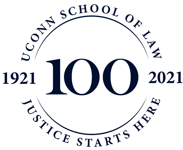 UConn School of Law Centennial Logo